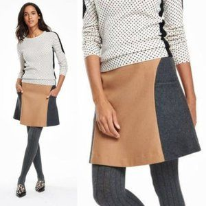 BODEN Freya Colorblock Wool Skirt